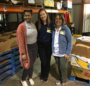 Volunteering at the Food Bank!